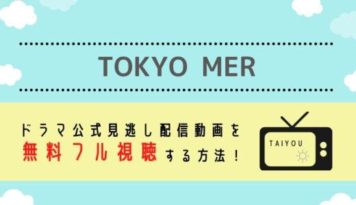 TOKYO MERの見逃し配信動画を無料視聴できるサイトまとめ!【鈴木亮平主演TBSドラマの再放送情報も】